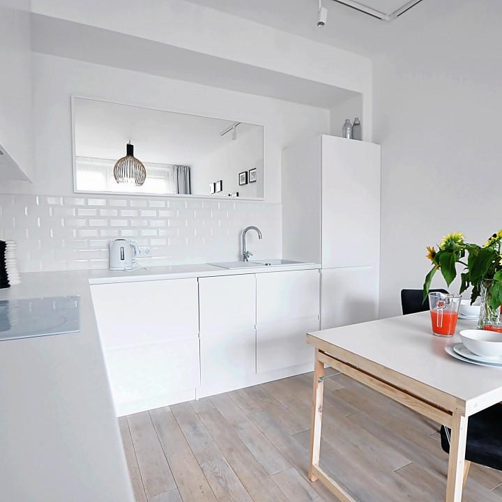 Kraków - Kuchnia w małym mieszkaniu 37m²